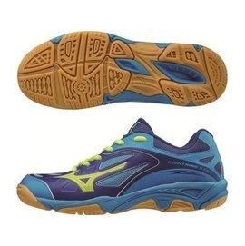 棒球世界全新Mizuno美津濃 LIGHTNING STAR Z2 J 兒童排球鞋 V1GD160345特價  藍色