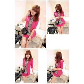 桃粉色 五分袖 百搭西裝外套 薄外套 防曬外套   非 飛行外套 棒球外套 牛仔外套 西裝