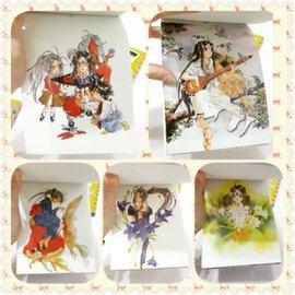 版  絕版 幸運女神 限定名信片 動漫 漫畫 卡 收藏卡 收集卡 卡片 寫信 寄信 情書