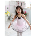布媽 ~粉色黑邊細肩帶兒童芭蕾舞衣 澎裙 芭蕾舞衣 無開釦款  110~140
