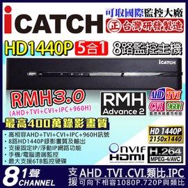 大廠 8路AHD 1080P 2560x1440錄影 1440P 4MP 1080P 72