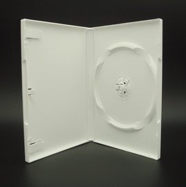 【臺灣 】單片裝14mm白色PP霧面CD盒 DVD盒 光碟盒 CD殼 有膜50個