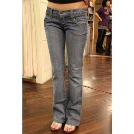 正品 美國好萊塢 Frankie B 超低腰 牛仔褲 靴型褲 小喇叭褲
