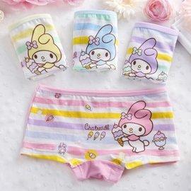 曈曈Baby 寶寶純棉可愛卡通四角內褲 平角小褲褲(3入裝)