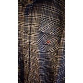 男童襯衫 諾貝達品牌上衣 Roberta上衣 格紋襯衫 淺灰色襯衫