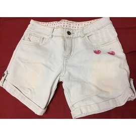 刷白 櫻桃 牛仔短褲