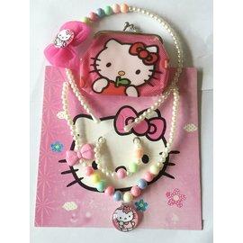 公主女童項鍊髮飾錢包4件套~Hello Kitty