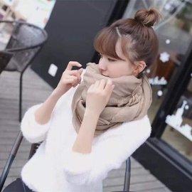 星星 秋款簡約日系棉麻圍巾 薄絲巾 絲巾 長款 亞麻圍巾 披肩 純色素面好搭