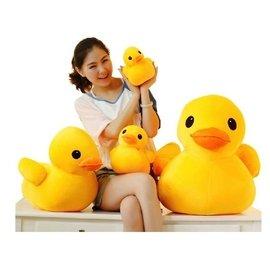 優速快購 香港大黃鴨 大號毛絨玩具娃娃公仔 小黃鴨生日  袋包裝