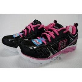 Skechers 進口女童鞋 黑粉色