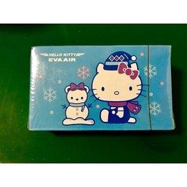 ~ 未拆 珍藏~長榮航空EVA AIR Hello Kitty 凱蒂貓撲克牌 KT雪人版~