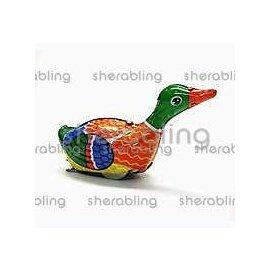 TOYS~B0004  鐵皮玩具~外貿版綠頭頸游鴨~復古玩具