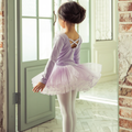 布媽 唯美長袖兒童芭蕾舞衣 開釦款 澎裙 芭蕾舞衣110~160粉.紫.黑