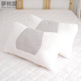 枕頭 蜂巢透氣釋壓枕 立體針織表布   夢棉屋