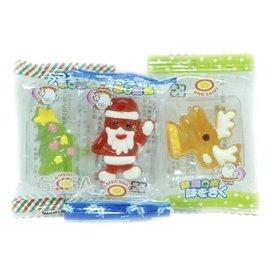 ~吉嘉食品~聖誕Q皮 糖.聖誕軟糖 無糖粉  小塑膠盒 封口包 300公克115元~M07