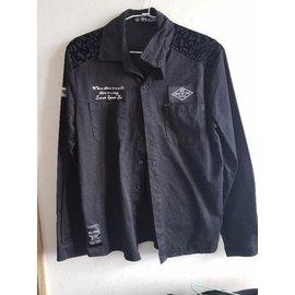 黑色襯衫外套
