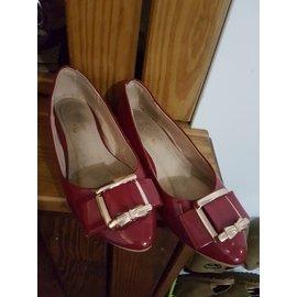 Ann's网络女鞋品牌,37(23.5公分)内增高,红鞋,少穿无破损,另有Gracegift