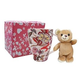 花花骨瓷馬克杯  可愛熊熊 玩偶 聖誕  婚禮