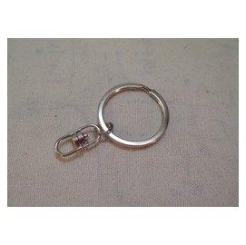 現貨G-041 鑰匙圈+8字扣 DIY飾品配件 五金鑰匙鏈掛件 扁圈 五金配件 鑰匙環 包包配件 飾品配件扣 寵物鏈配件