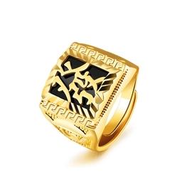~316小舖~~KC59~ 仿真金18K金戒指~高貴瑪瑙金戒指~單件價 可調整戒子 發字戒