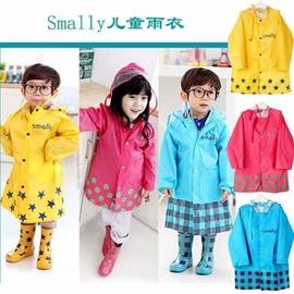 smally正品兒童卡通雨衣雨披 帶書包位