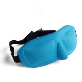 柔軟立體3遮光睡眠眼罩 透氣護男女睡覺緩解疲勞送耳塞 天藍色
