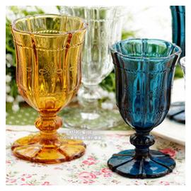 zakka歐式復古雕花 玻璃杯高腳杯紅酒杯子洋酒杯雞尾酒杯酒具
