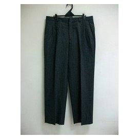 合穿 per~pcs 33號 黑灰條紋毛料打折西裝褲乙件 九成新
