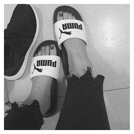 V-PUMA Popcat Swan拖鞋 情侣拖鞋 沙滩拖鞋 puma拖鞋 凉鞋 男拖鞋 女拖鞋 休闲 运动鞋