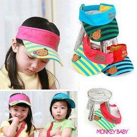 滿699 ~MONKEY BABY ~ 正韓色彩漂亮小熊童帽 兒童帽 空頂帽 遮陽帽男女童