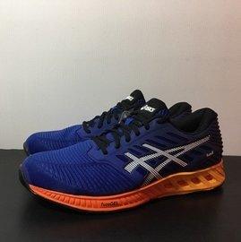 麥修斯  ASICS FuzeX 深藍白漸層 慢跑鞋 輕量 男款4 T639N~4350