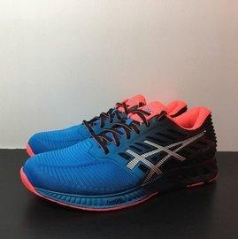 麥修斯  ASICS FuzeX 藍黑橘 慢跑鞋 輕量 男款4 T639N~4201