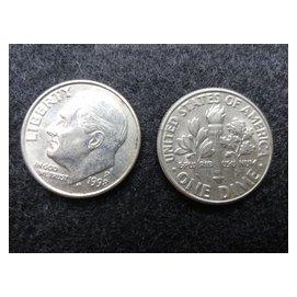 ~ 硬幣~美國1998年P記 10分 美金 one dime 稀有羅斯福總統