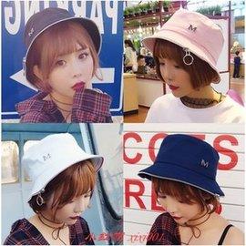『小帽』韓國夏天百搭拉鏈漁夫帽子可折疊防曬遮陽帽盆帽子潮男女 黑色