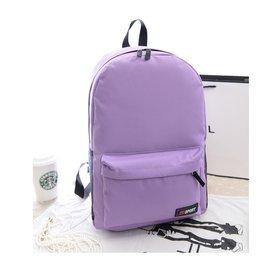 ~易購~ 簡約純色雙肩包 後背包 學生書包 男女休閒背包 側背 斜背 旅行包 簡約 背包