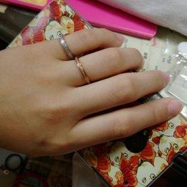 女生尾戒 無名指戒 磨砂戒指 玫瑰金戒指 鈦鋼戒指 醫療鋼戒指 飾品