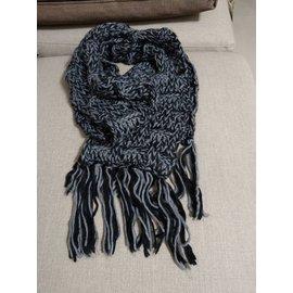 編織圍巾(淺灰 深灰)