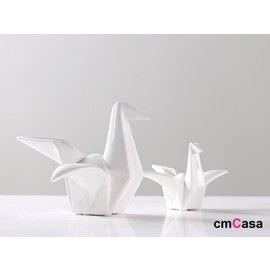 cmCasa   5177 日式東方美學簡約 陶瓷紙鶴立體擺飾 小  多尺寸唯美新發行