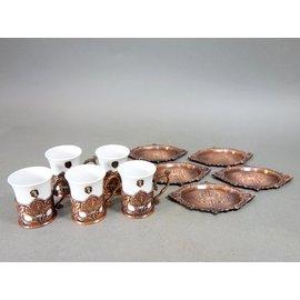 『華寶軒』 茶道具 昭和時期 銅製 紅茶咖啡 下午茶杯具組