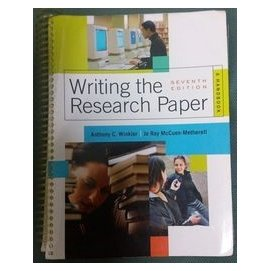 Writing the Research Paper  書大拍賣
