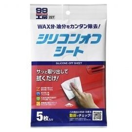 SOFT99 去蜡剂(5片装) 用于补土、喷漆或镀膜前的漆面处理、黏着剂或双面胶带黏贴前和未喷漆树脂配件的镀膜剂使用前