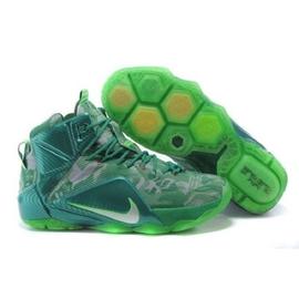 原厂NIKE LEBRON XI EP 詹姆斯12代高筒篮球鞋反光青色涂鸦运动鞋慢跑鞋休闲鞋 现货