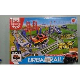 玩具農場~總店 ~下單3組才出貨~888~20城市軌道車~跑跑 送一顆電池   附發票