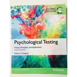 Psychological Testing:History  Principles and