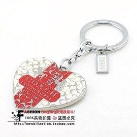 ( )COACH 贈品 專櫃 版 愛心 鑰匙扣 高端大氣 箱包掛件 吊飾 組 情人 附贈