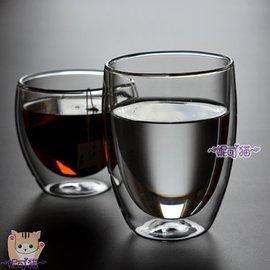 ~ ~~妮可貓~蛋形雙層玻璃杯 保溫隔熱 水杯 咖啡杯 茶杯 高硼矽耐熱杯350ml~丹麥