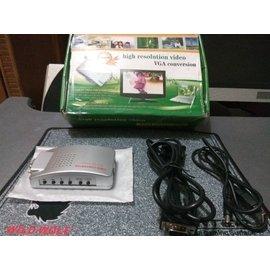 VGA 訊號轉換器 VGA D~Sub 轉 AV S端子 電腦畫面 轉 電視