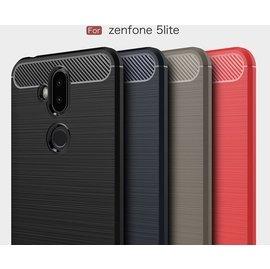 【碳纖維創意拉絲】 ASUS ZenFone 5Q (ZC600KL) X017DA 抗指紋 矽膠 手機殼 保護套