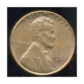 ~ 硬幣~稀有美國1963 美金1分 USA ONE CENT 林肯總統