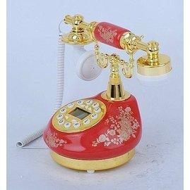 優速快購~ 歐式田園風格  飾品 工藝陶瓷仿古 復古 公主電話機